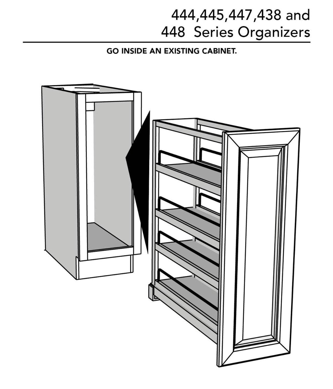 Rev A Shelf 448 Soft Close 8 Base Organizer Pullout