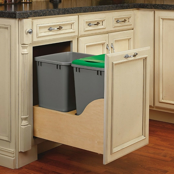 Rev A Shelf 4wcsc 15 W Double 35qt Soft Close Waste