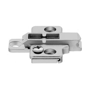 Clip-On Pack of 20 with Screws Nickel Finish Blum 175H7100x20S 175H7100 0 mm Height Frameless Mounting Plate