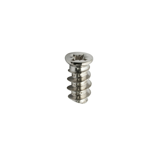 Euro Hinge Screw 6 mm x 14 mm Nickel Plated for Cabinet Hinges