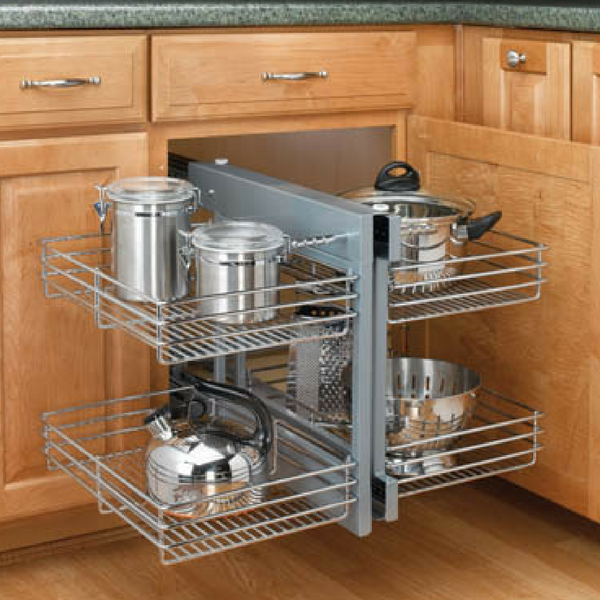 Rev A Shelf 5psp Two Tier Pull Out 15 Blind Corner Organizer