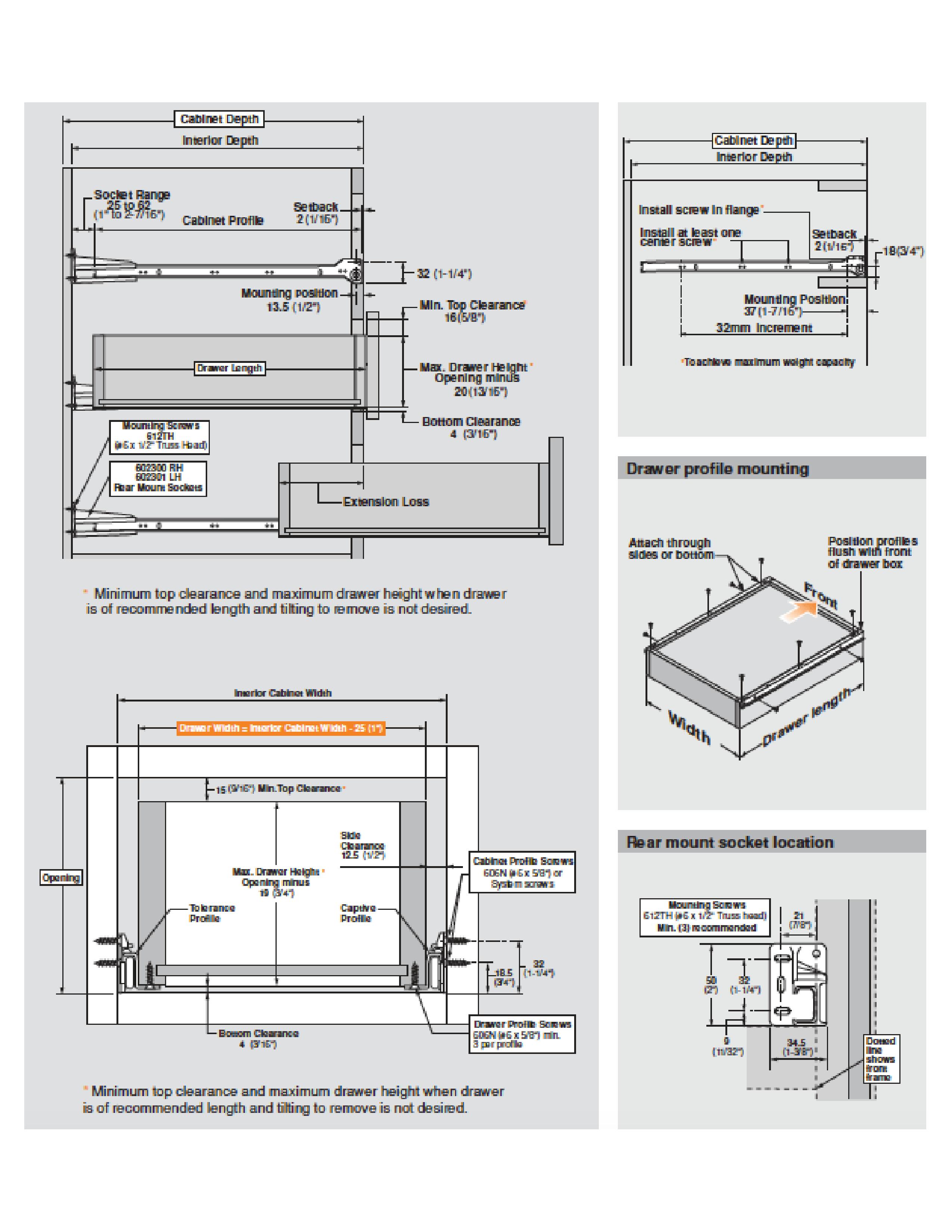 Blum Undermount Drawer Slide Installation Chest Of Drawers